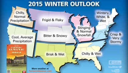 2014 Farmer's Almanac Winter Forecast