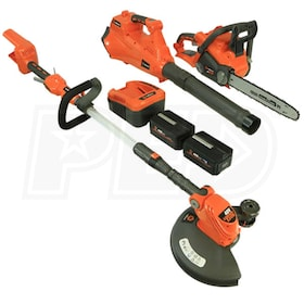 Redback 40-Volt String Trimmer/ Leaf Blower/ Chainsaw Homeowner Combo Kit (Includes 2 Batteries)