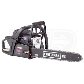 "Craftsman (18"") 42cc Consumer Gas Chain Saw With Extra (14"") Bar & Chain"