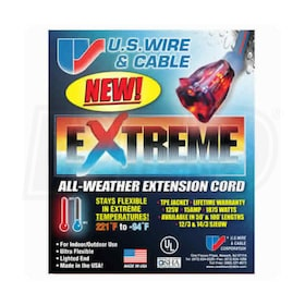 U.S. Wire Extreme Cold Weather 100-Foot Extension Cord (12-Gauge)