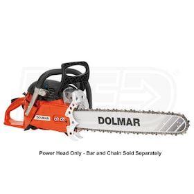 Dolmar 78.5cc Professional Gas Chain Saw - Power Head Only - w/ 3-stage Air Filter