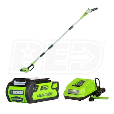 "Greenworks G-Max (8"") 40-Volt Lithium-Ion Cordless Pole-Saw w/ 2.0Ah Battery & Charger"