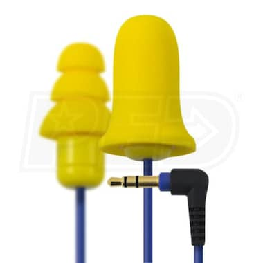 Plugfones Earplug Headphones- Contractor Yellow