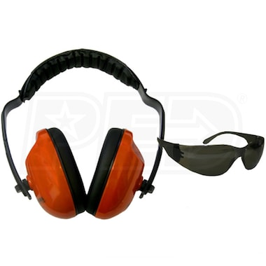 Forester Orange Ear Muffs (21 dB) & Safety Glasses