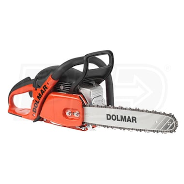 "Dolmar (18"") 50.4cc Professional Gas Chain Saw W/ Heated Handle, 3/8"" - .050"""